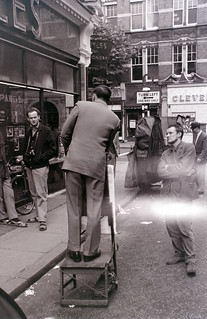 Outside Foyle's Bookshop, Charing Cross Road, London, around mid-1961
