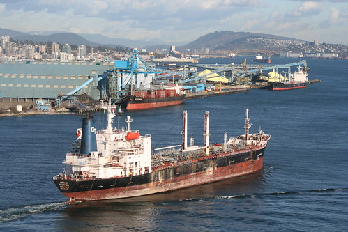 Tanker in Vancouver Harbour