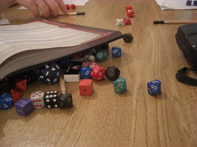 Dice of all sizes and sides add RNG to D&D