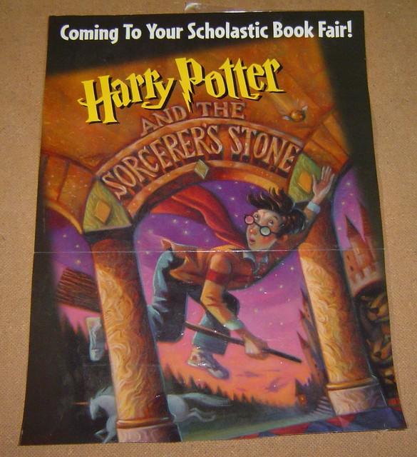 Harry Potter Book Quizzes Scholastic : Harry potter sorcerer s stone scholastic book fair poster