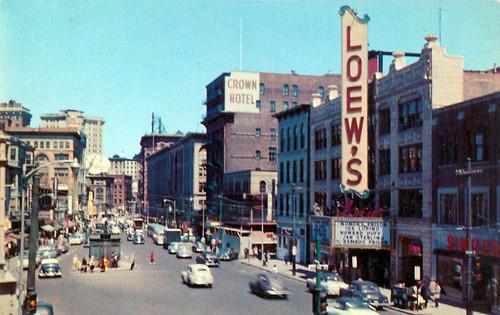Weybosset Street Providence RI Late 1950's