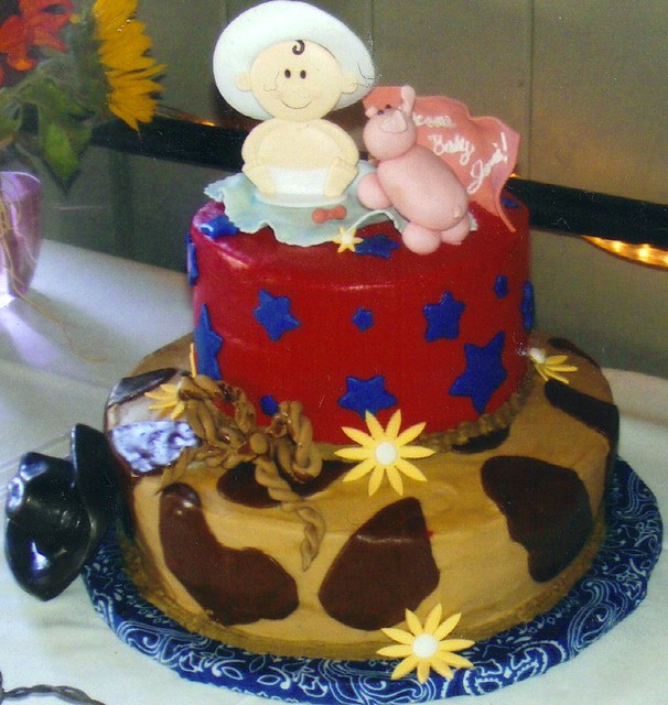 cowboy baby shower cake flickr photo sharing