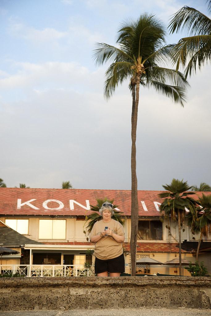 Mom at the Kona Inn