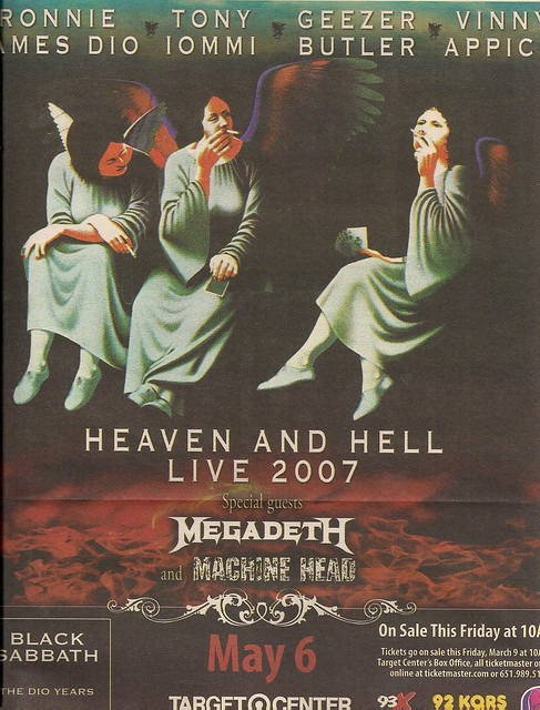 05/06/07 Heaven And Hell @ Minneapolis, MN (Ad)