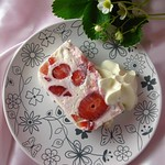 Strawberry and quark terrine-
