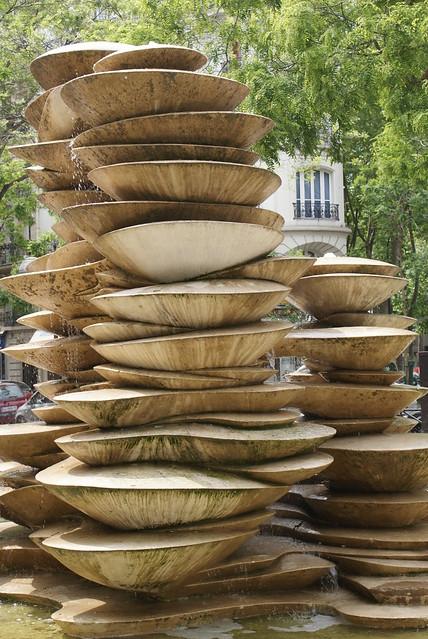 Fontaine des Polypores Square Jean-Cocteau, rue Balard (1981), Jean-Yves Lechevallier | Paris 15e