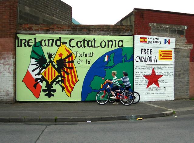 Katalonien-Wandbild in Belfast