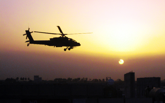 Photo:Apache sunset By:The U.S. Army