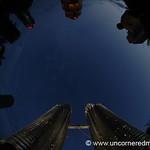 Petronas Towers at Night, Fisheye - Kuala Lumpur, Malaysia