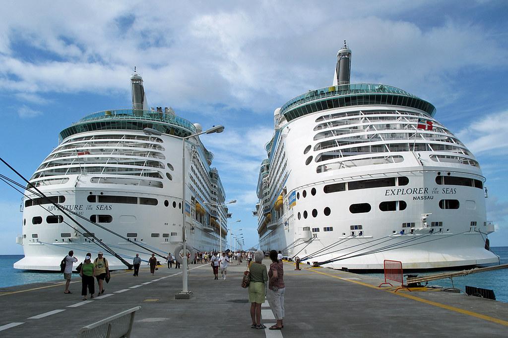 Royal Caribben Cruise Ships Docked In St Maarten A Photo On - Docked cruise ship