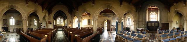St. Andrew's Church, Fontmell Magna, Dorset: 360º Panorama
