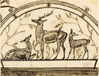 Paul Manship: (Study for the Paul J. Rainey Memorial Gateway, New York Zoological Park) (Family of Deer), 1934