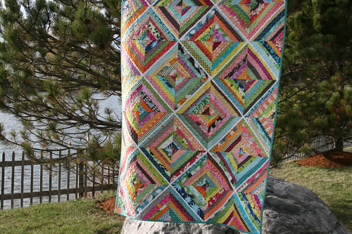 Kaleidoscope - a colorful string quilt