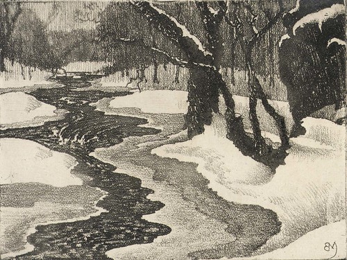 Benson B. Moore: Rock Creek in Winter, 1934