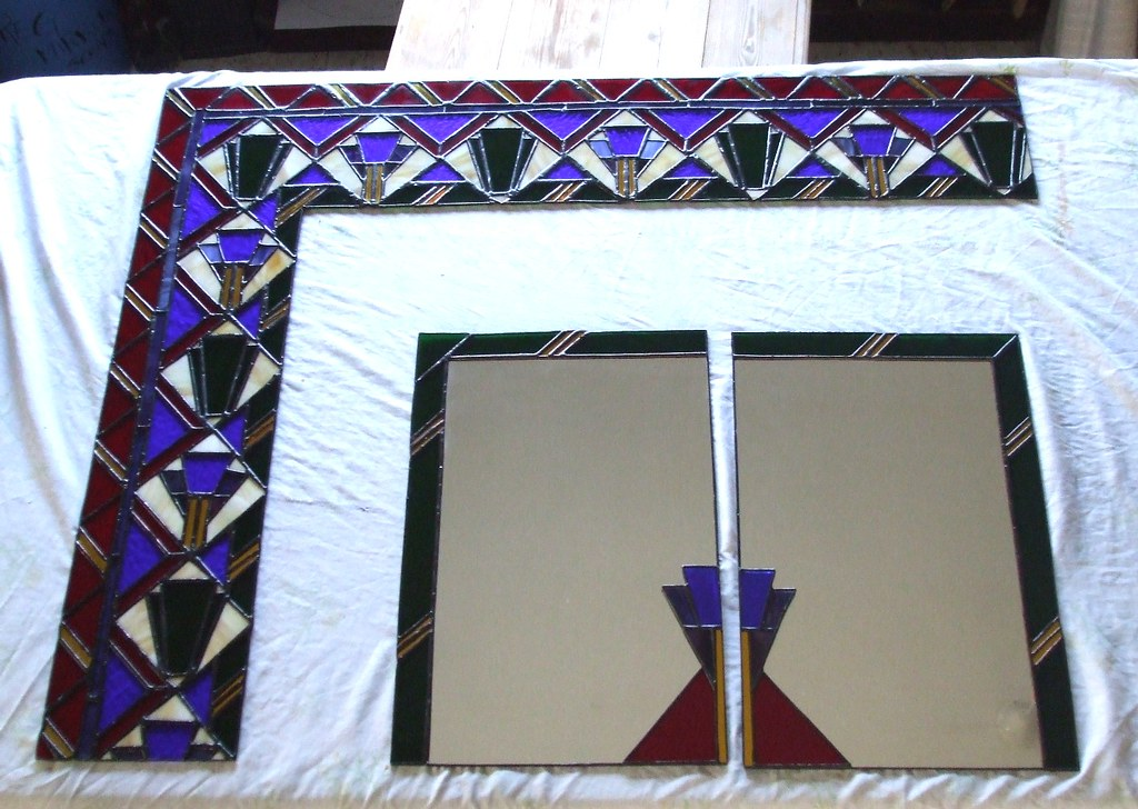 Stained Glass Wall Carpet - before installation
