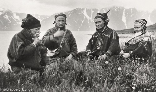 Mountain Saami group in Lyngen Norway. 1928