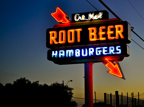 sunset food car night evening neon texas sundown dusk tx grand prairie hop theosdrivein