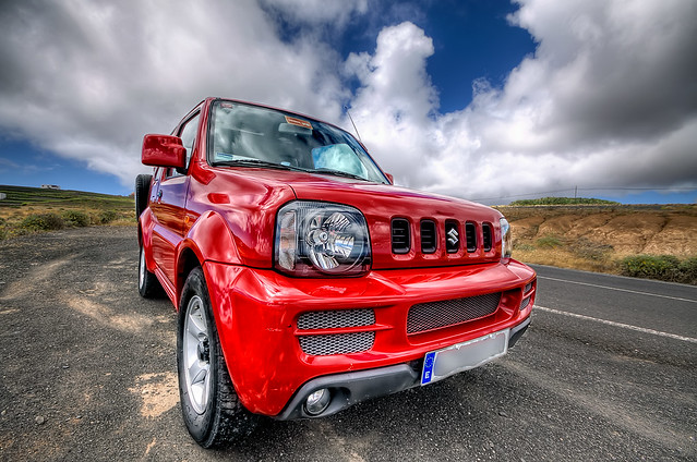 small in red suzuki jimny hdr lanzarote flickr photo sharing. Black Bedroom Furniture Sets. Home Design Ideas