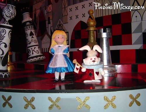 "Alice & White Rabbit in ""its a small world"""