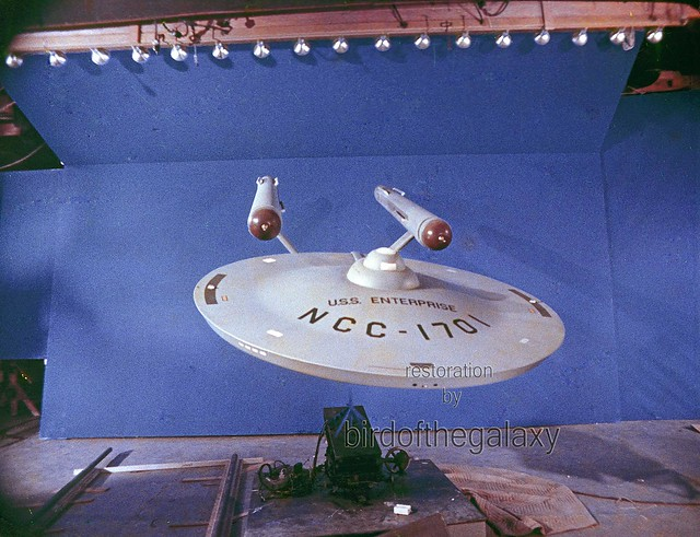 Models, Sets, Props, Technicians from Star Trek TOS, 35mm single frame film clip restorations