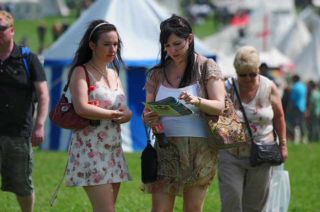 Three Women at Kelmarsh Festival of History 2009