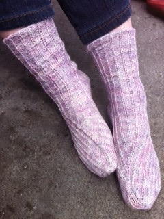 Finished my Twisted socks from @knittydotcom