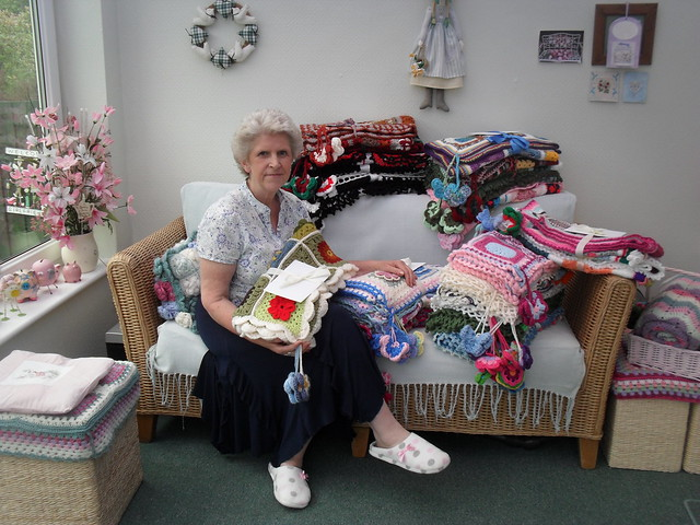 My Care Home visit - 21 'Sunshine Blankets' have left me today!