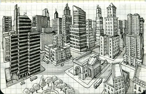 Three letter word for art cahier notebooks and buildings for 2d building drawing