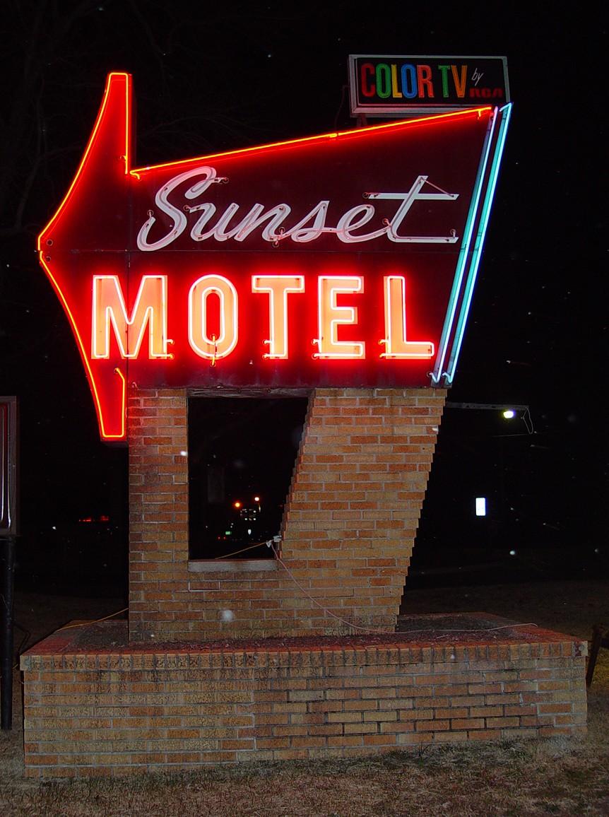 Sunset Motel - Allegan, Michigan U.S.A. - March 12, 2009