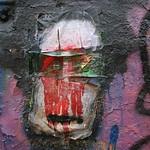 Skull graffiti on the main firing line