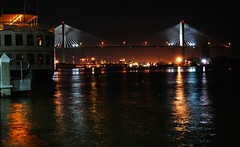Talmadge Bridge at Night | Savannah GA