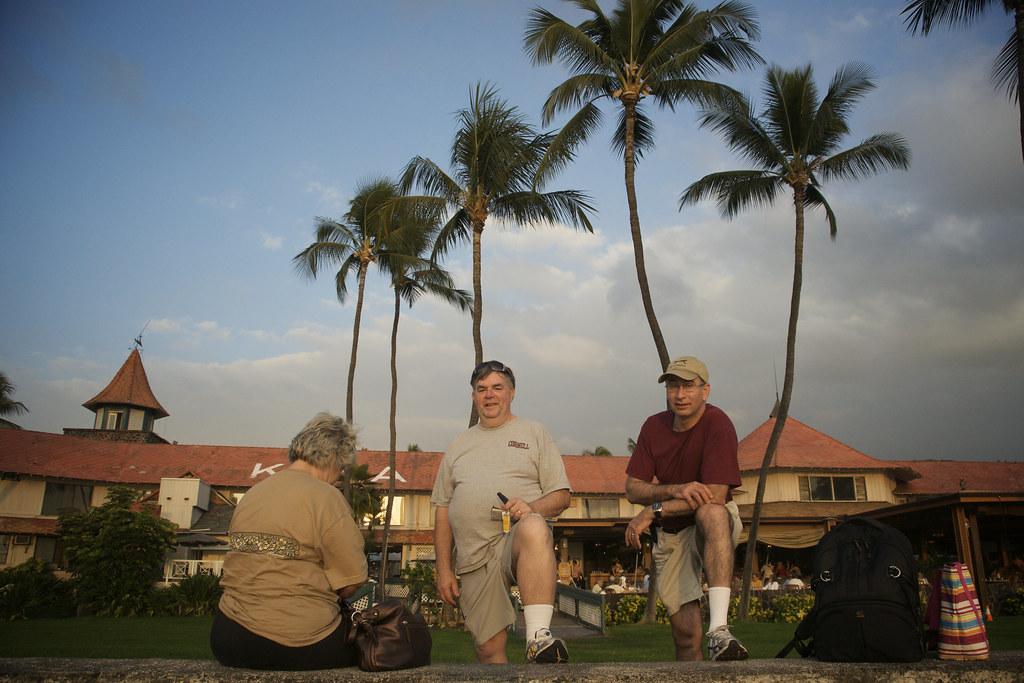 Mom, Dad, & David by the Kona Inn