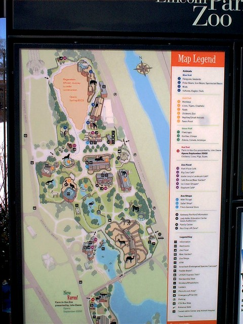 A Map Of The Lincoln Park Zoo  Flickr  Photo Sharing