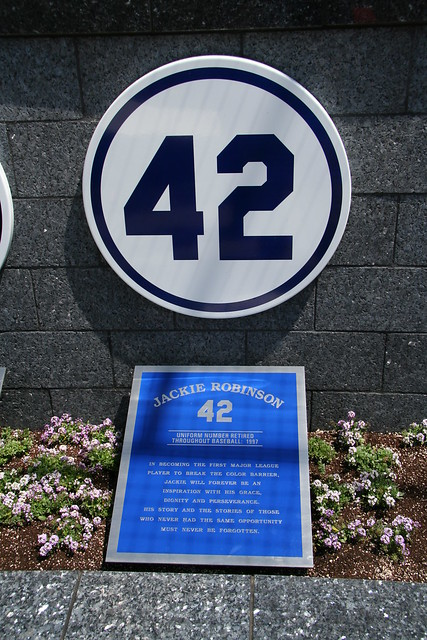Jackie Robinson's retired # 42 at Yankee Stadium