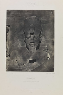'Nubie, Ibsamboul, Colosse Médial du Spéos de Phré', (Nubia, Abu Simbel, middle colossus from the temple of Rameses II)