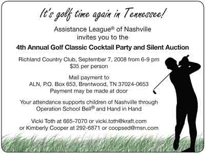 Invitation Golf Tournament for luxury invitation layout