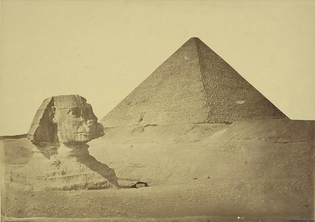 Giza. Pyramid of Khafre and Sphinx