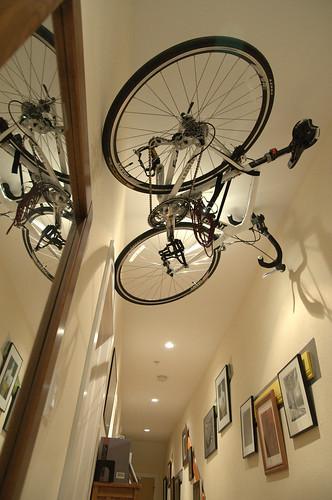 ceiling bike rack. Black Bedroom Furniture Sets. Home Design Ideas