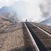 Fire along railroad