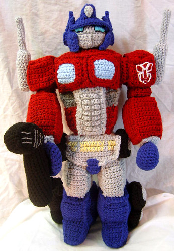 Amigurumi Optimus Prime Tribute Doll