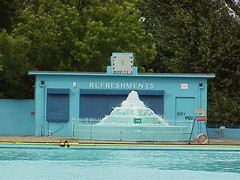 Art Deco Buildings Tooting Bec Lido London