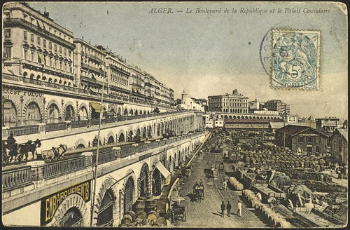 Algiers: The Boulevard de la République and the Consular Palace (GRI)