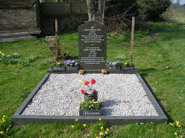 Grave Of Sir John Mills Actor St Mary The Virgin