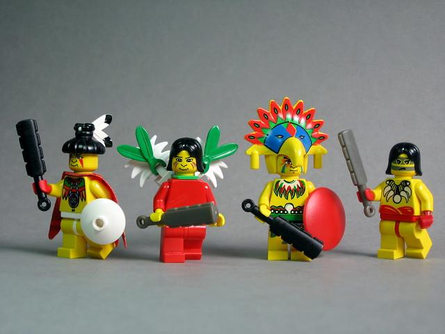 Aztec Warriors With Brickforge Tribal Swords Flickr