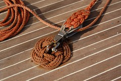 brown, knot, rope,