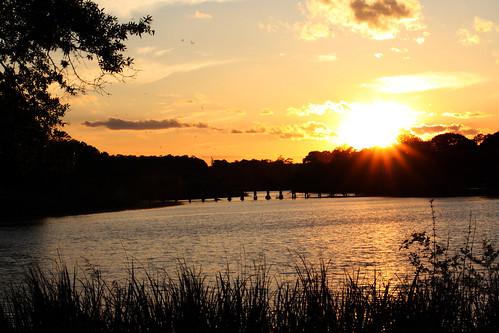 park sunset sky sun water mobile clouds canon eos rebel photo alabama municipal xsi 450d