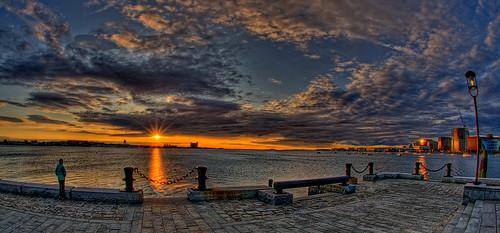 seascape boston sunrise landscape airport scenic fisheye explore logan hdr d300 longwharf 105mmf28gfisheye photomatix explored ©allrightsreserved capturenx2 nikonjim
