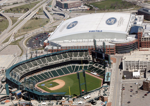 Comerica Park And Ford Field Flickr Photo Sharing