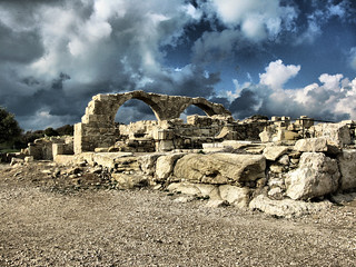 The ruins of Kourion, near the modern town of Episkopi