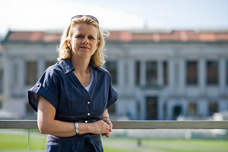 Hilde C. Bjørnland, Professor of Economics at the Norwegian School of Management and scientific advisor to the Norges Bank, poses at the University of California, Berkeley, on April 30, 2009.